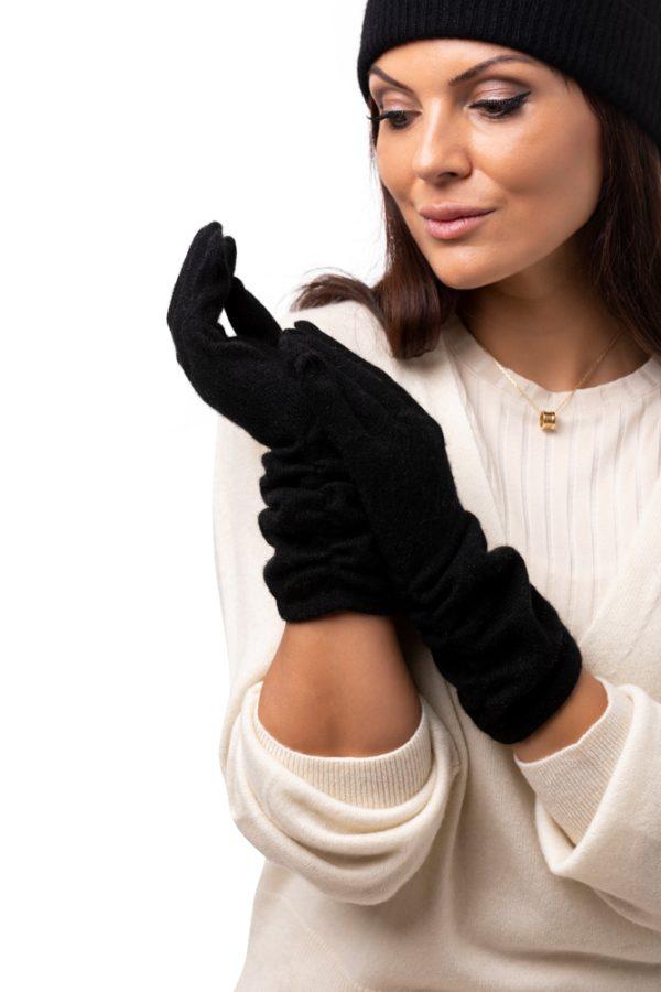 Handskar - mjuka handskar i finaste kashmirull svart