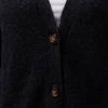 Kofta Alicia - v- ringad kofta med knappar och fickor antracitgrå