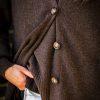 Kofta Alicia - v- ringad kofta med knappar och fickor brun