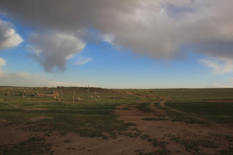Det vackra grassland i Inre Mongoliet